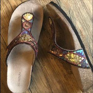 Cork Wedge Bling Sandals